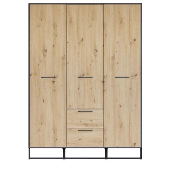 Шкаф трехстворчатый Brooklyn SZF3D2S, Дуб артизан