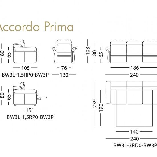 Кресло KLER Accordo Prima W130