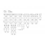 Диван KLER Gondoliere W184 угловой