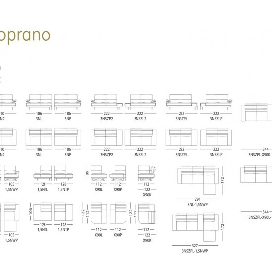 Диван KLER Soprano W171 угловой