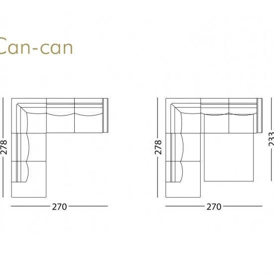 Диван KLER Can-Can W110 угловой