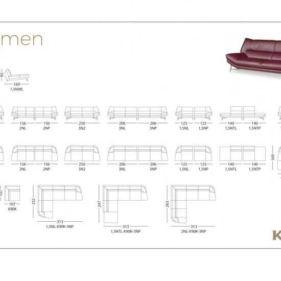 Диван KLER Carmen W175 угловой