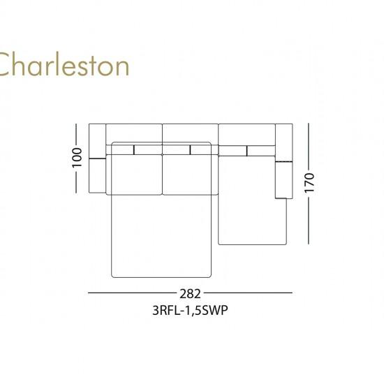 Диван KLER Charleston W159 угловой
