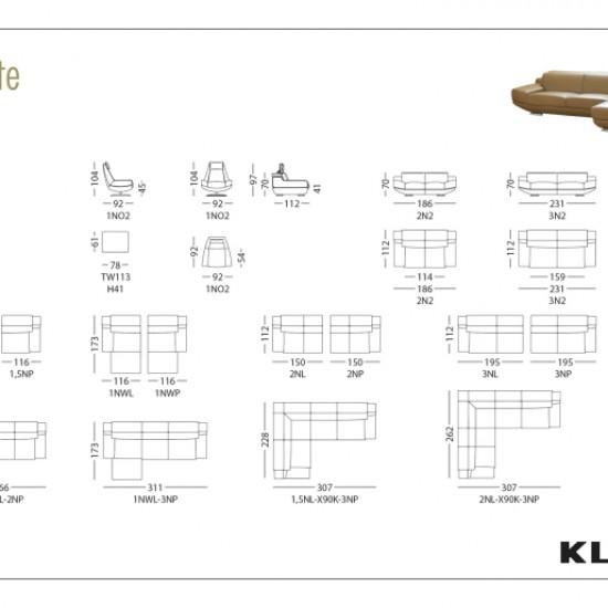 Диван KLER Corrente W113 угловой