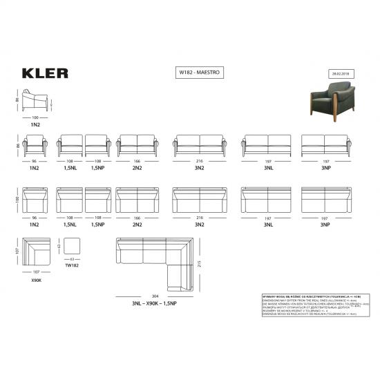 Диван KLER Maestro W182 прямой