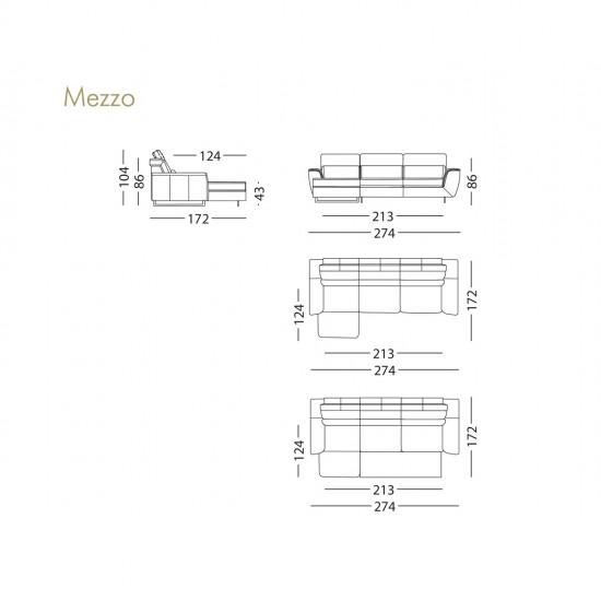 Диван KLER Mezzo W119 угловой
