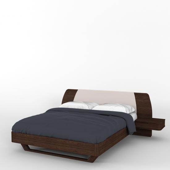 Кровать Мадейра М1770, 160х200 с деревянными фасадами