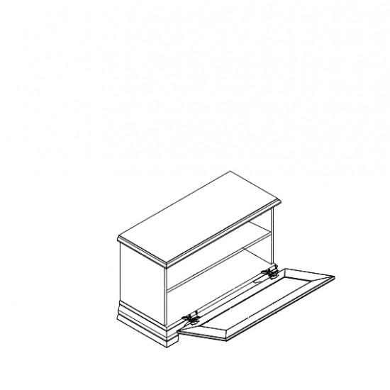 Тумба для обуви  Kentaki, sfk1b, белый