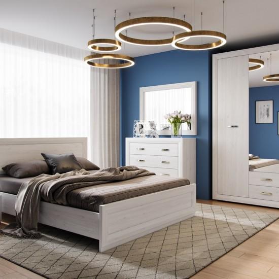 Кровать Malta LOZ140x200 с металлическим основанием, лиственница сибирская / орех лион