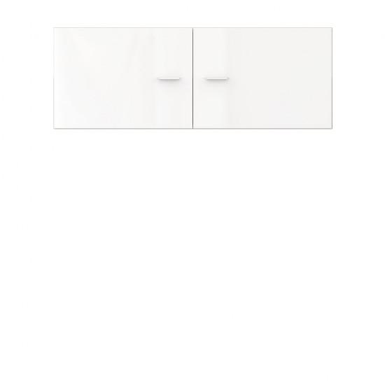 Шкаф настенный  Jang S-92- SFW2D_4_11,белый высокий блеск