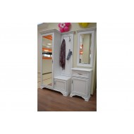 Шкаф с вешалкой Kentaki, ppk/110p, белый
