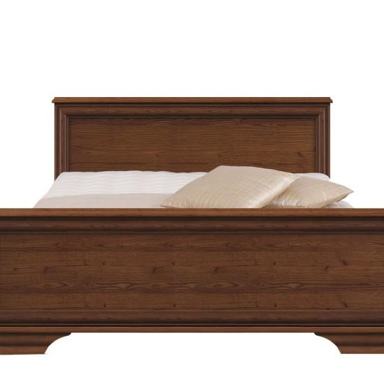 Кровать Kentaki, loz/140, каштан с металлическим основанием