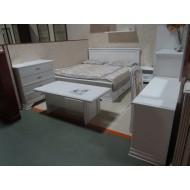 Кровать двуспальная с выдвижными ящиками Kentaki, loz/180, белый