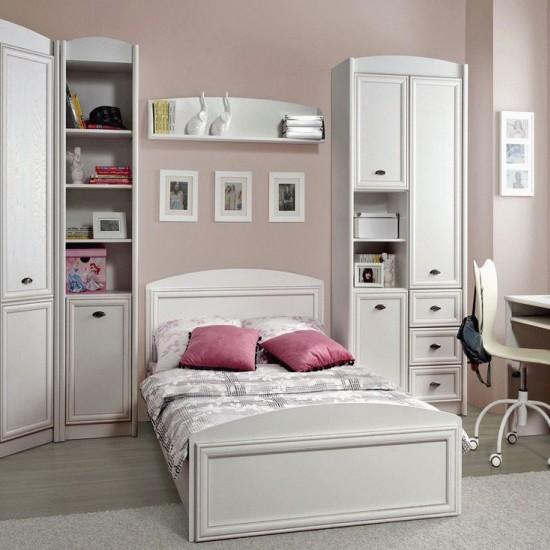 Шкаф комбинированный Salerno, REG 3D3S, белый