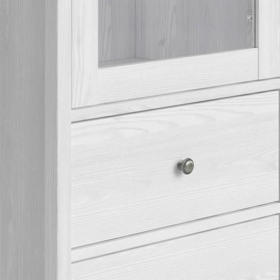 Шкаф-витрина Порто REG1W2S (сосна ларико/джанни)