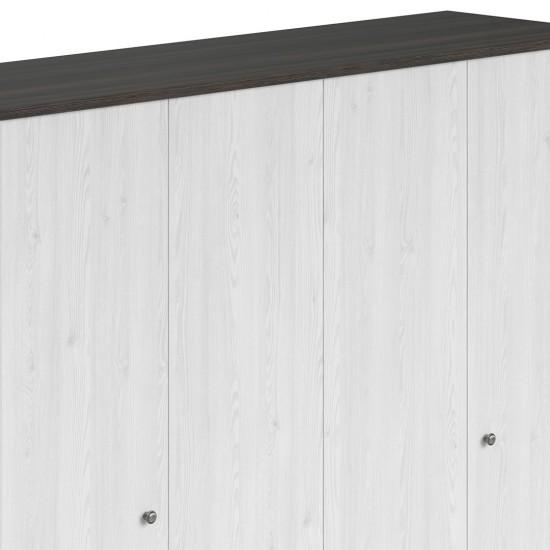 Шкаф платяной Порто SZF4D2S с полками (сосна ларико/джанни)