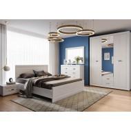 Кровать Malta LOZ 90x200 с гибким основанием, лиственница сибирская / орех лион