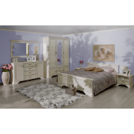 Кровать двуспальная Kentaki, loz/160, белый с металлическим основанием