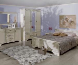 Кровать двуспальная с подъемным механизмом Kentaki, loz/160, белый