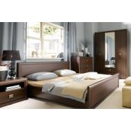 Двуспальная кровать Koen, LOZ/140, венге магия с гибким основанием