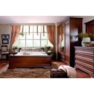 Кровать двуспальная с выдвижными ящиками Kentaki, loz/180, каштан