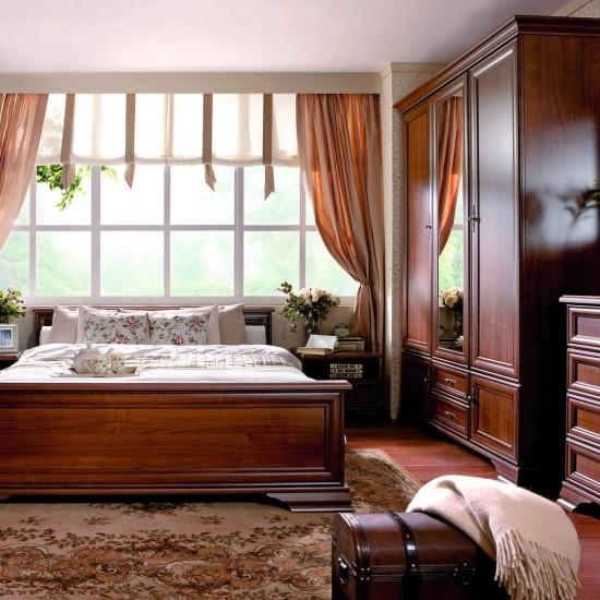 Кровать двуспальная Kentaki, loz/160, каштан с металлическим основанием