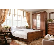 Кровать односпальная Kentaki, loz/90  с металлическим основанием, каштан