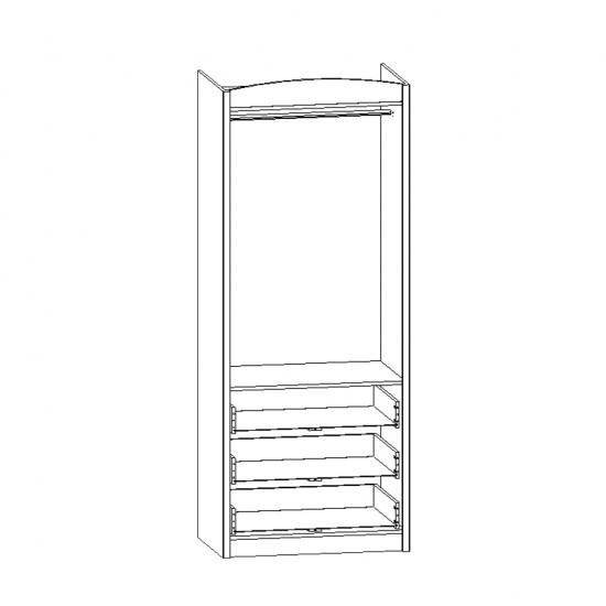 Шкаф двухстворчатый Salerno, SZF 2D3S, белый