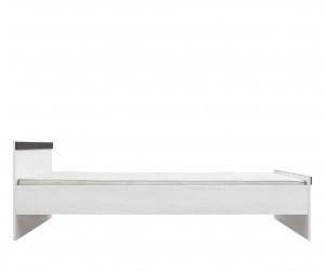 Кровать односпальная Порто LOZ/90 с металлическим основанием (сосна ларико/джанни)