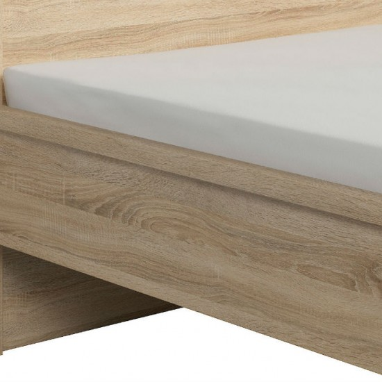 Кровать Kaspian с гибким основанием, LOZ140, дуб сонома