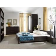 Кровать Kaspian с металлическим основанием, LOZ140, венге