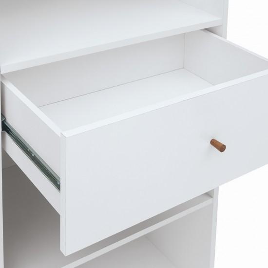 Шкаф Heda REG1D1S, лиственица сибирская золотая / белый