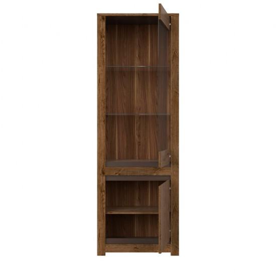 Шкаф-витрина Kada S404-REG1W1D, дуб April