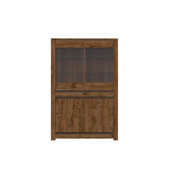 Шкаф-витрина Kada S404-REG2W2D, дуб April