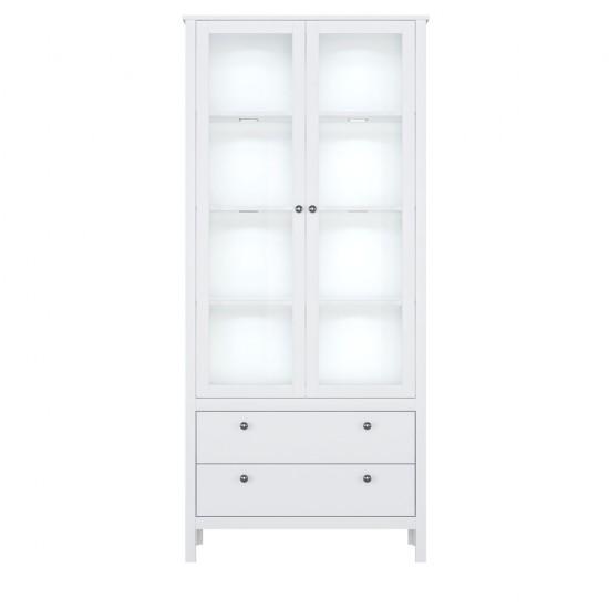 Шкаф-витрина Helga REG2W2S, белый