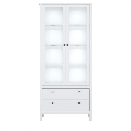 Шкаф-витрина с подсветкой Helga REG2W2S, белый