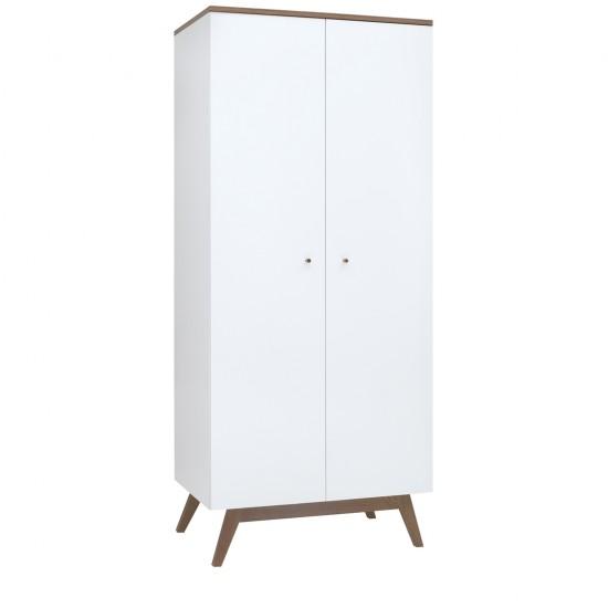 Шкаф Heda SZF2D, лиственица сибирская золотая / белый