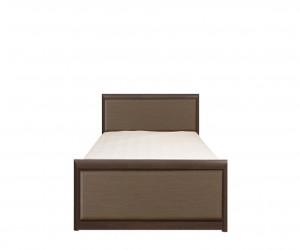 Кровать Koen с гибким основанием LOZ/90, венге магия и штрокс темный