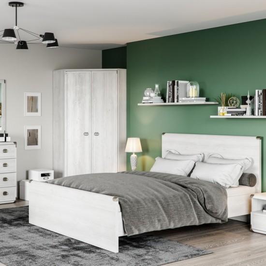 Кровать двуспальная Indiana JLOZ 160x200 с гибким основанием,сосна каньон