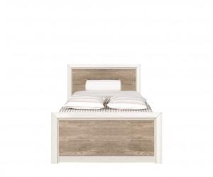 Кровать Koen с гибким основанием LOZ/90, ясень снежный/сосна натуральная