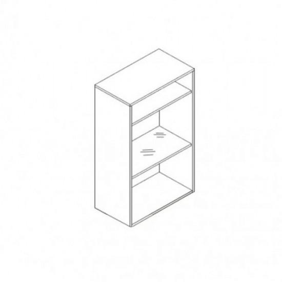 Шкаф настенный Azteca, s205-sfw1w/10/6, оникс / белый блеск