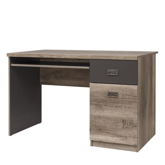 Стол письменный Malcolm BIU120 дуб каньон монумент с печатью/серый вольфрам