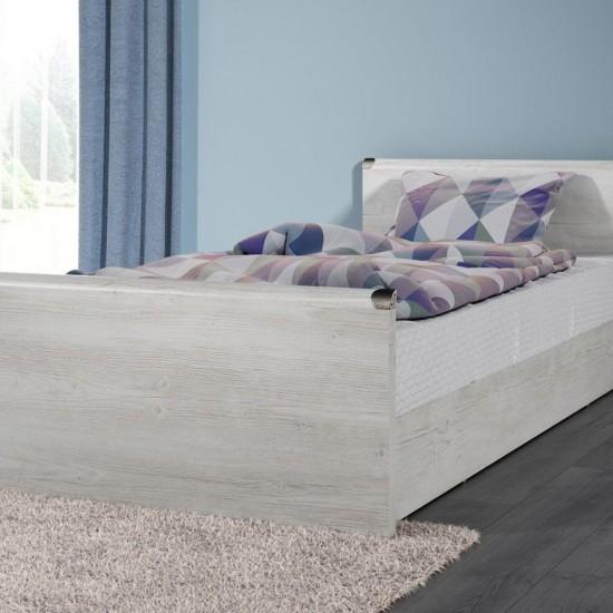 Кровать Indiana с металлическим основанием jloz90, сосна каньон