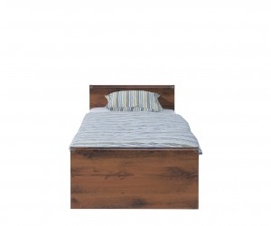 Кровать Indiana с металлическим основанием jloz90, дуб саттер