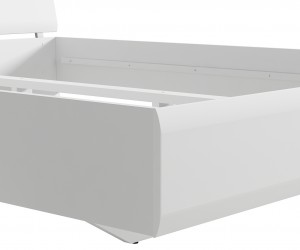 Кровать Azteca с металлическим основанием, loz90х200, белый блеск