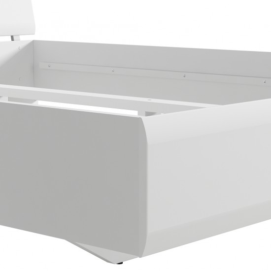 Кровать двуспальная Azteca с гибким основанием, loz140х200, белый блеск