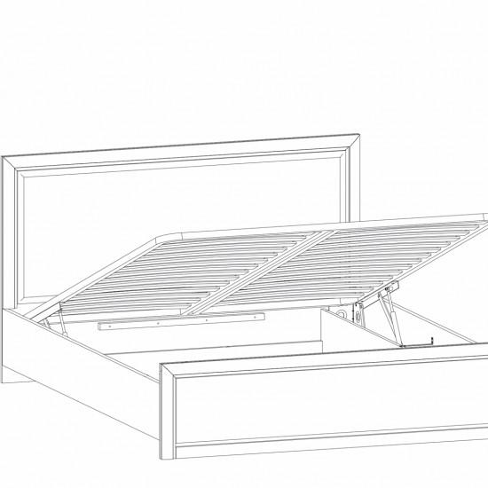 Кровать двуспальная с подъемным механизмом Kentaki, loz/160, каштан