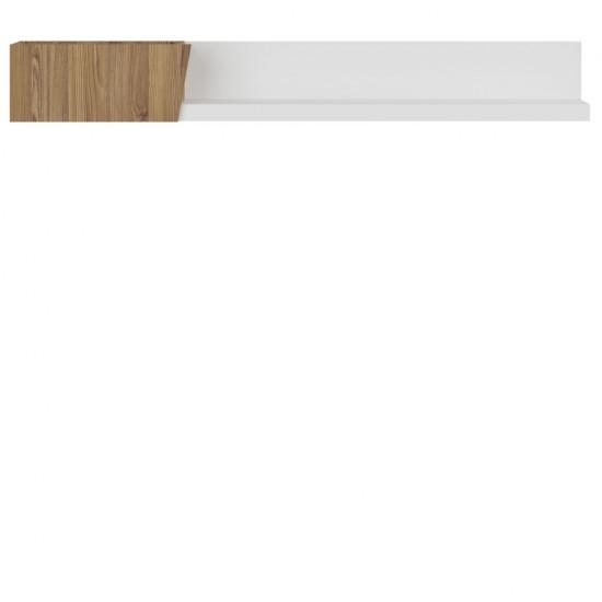 Полка Rauma POL/15, лиственница сибирская золотая / белый