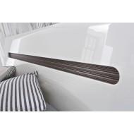 Кровать двуспальная Azteca с металлическим основанием, loz180х200, белый блеск