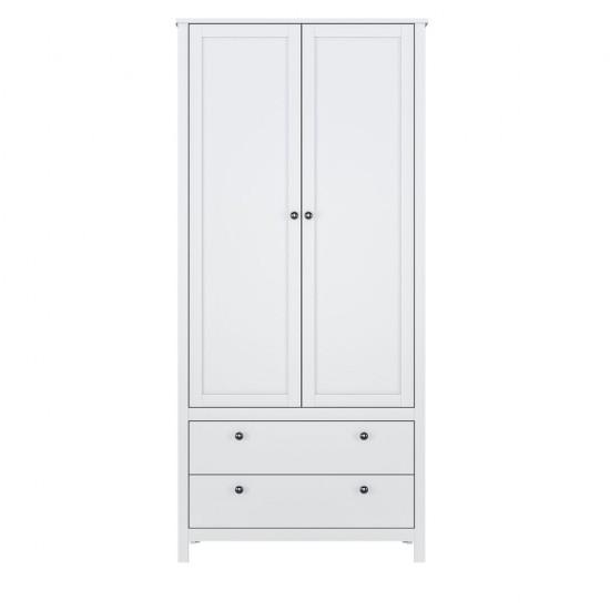 Шкаф для одежды Helga SZF2D2S/90, белый